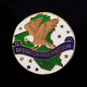 """Operation Iraqi Freedom"" Lapel Pin"