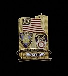 9/11 - NYPD/NYFD Memorial Lapel Pin
