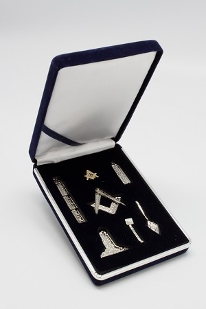 Masonic Working Tool Set - Silver