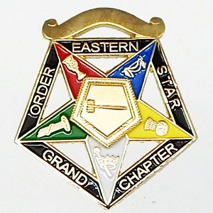 Order of the Eastern Star Grand Officer Jewel - Worthy Grand Matron