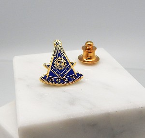 Past Master with Square 3/4 Inch Lapel Pin | Blue Lodge Pins