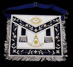 Past Master Apron Silver on Genuine Leather
