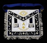 Custom Past Master Apron - Silver Trim on Silk