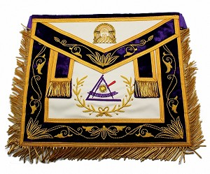 York Rite - Council - Past Grand Illustrious Master Apron on Genuine Leather