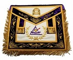 York Rite - Council - Past Grand Illustrious Master Apron on Genuine Leather Custom
