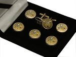 Shrine: Scimitar, Crescent, & Star Button Cover and Cufflink Set