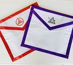 York Rite of Freemasonry Reversible Cryptic Council Purple Royal Arch Red Two in One Member Apron