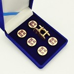 York Rite of Freemasonry Cryptic Council Member Tuxedo Stud and Cuff Link Set