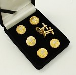 Grotto MOVPER Supreme Officer Gray Cap Button Cover and Cuff Link 7 Piece Set