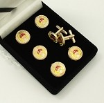 Grotto MOVPER Prophet Red Cap Button Cover and Cuff Link 7 Piece Set