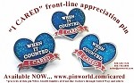 COVID-19 I CARED Front-Line Appreciation Pin Essential Worker Coronavirus Cloisonné Lapel Pin