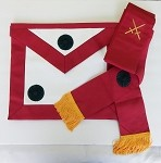 Knight Mason Member Apron and Sash Set