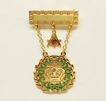 Amaranth Past Grand Royal Patron 11 Stone Gold Dangle Jewel