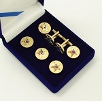 Order of the Eastern Star Past Patron Tuxedo Stud and Cuff Link Set