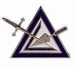 Cryptic Council Metal Adhesive Car Badge or Emblem | York Rite of Freemasonry