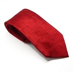 Shrine Red Neck Tie Shriners Tone on Tone Silk Woven