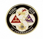York Rite Of Freemasonry Car Badge
