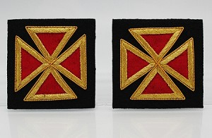 "Grand Officer Sleeve Crosses 2.0"" - Mylar: Knights Templar Uniform Accessories"