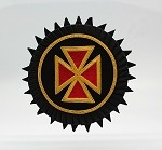 Grand Officer Rosette - Mylar: Knights Templar Uniform Accessories