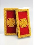 Grand Officer Epaulettes (Shoulder Boards) - Bullion: Knights Templar Accessories