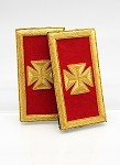 Grand Officer Epualettes (Sholder Boards) - Mylar: Knights Templar Uniform Accessories
