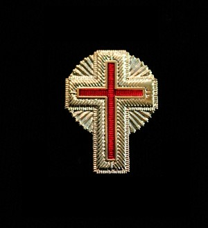 Gold Knights Templar Past Commander Uniform Cross Pr.