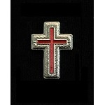 Silver Knights Templar SIR KNIGHT Uniform collar Crosses (Pr.)