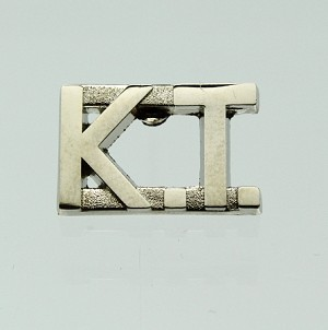 """KT"" Knights Templar Uniform Bar (Silver)"