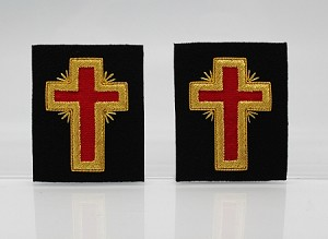"Past Commander Sleeve Crosses 2.0"" - Mylar: Knights Templar Uniform Accessories"