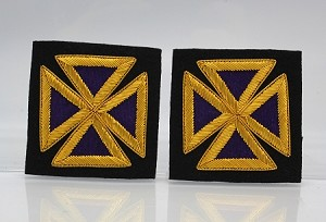 "Past Grand Commander Sleeve Crosses 2.0"" - Bullion: Knights Templar Uniform Accessories"