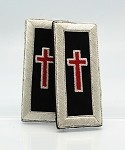 Sir Knight Epaulettes (Shoulder Boards) - Mylar: Knights Templar Uniform Accessories