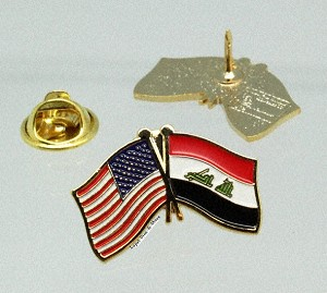 US/Iraq Friendship Flag Lapel Pin