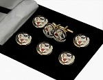 York Rite: York Rite of Freemasonry Button Cover & Cufflink Set